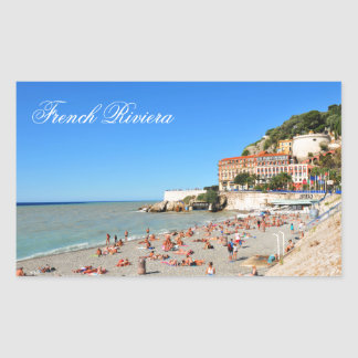 Nice. French Riviera Rectangular Sticker
