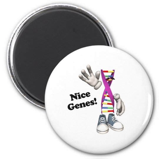 Nice Genes Funny DNA 2 Inch Round Magnet