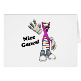 Nice Genes Funny DNA Greeting Card
