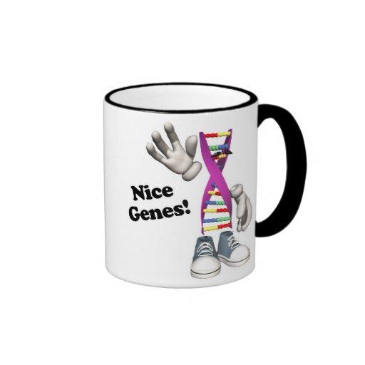 Nice Genes Funny Dna Ringer Coffee Mug Zazzle