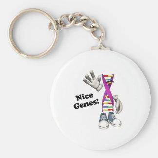 Nice Genes Funny DNA Keychain