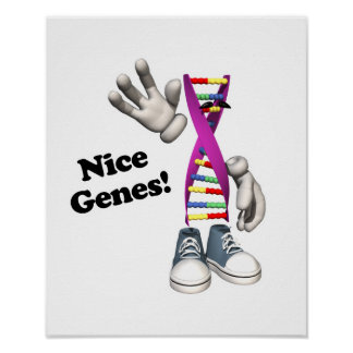 Nice Genes Funny DNA Poster