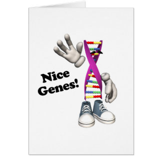 Nice Genes Funny DNA Strip Character Greeting Card