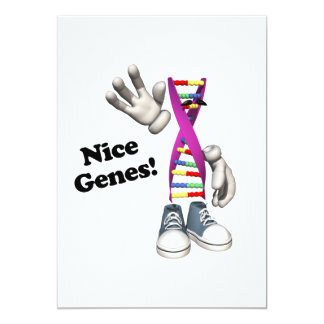 Nice Genes Funny DNA Strip Character Custom Invitations