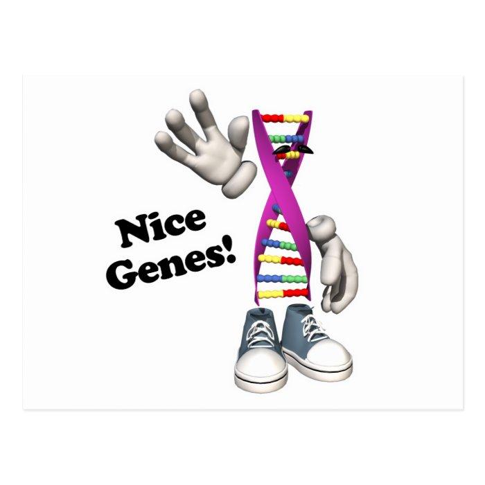 Nice Genes Funny DNA Strip Character Postcard
