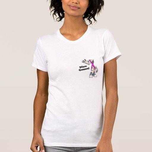 Nice Genes Funny DNA Strip Character Tee Shirt