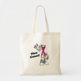 Nice Genes Funny DNA Strip Character Tote Bag