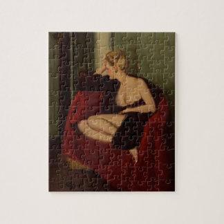 Nice Girl, circa 1940s Pin Up Art Jigsaw Puzzle