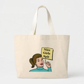 Nice Girls Spit - bag