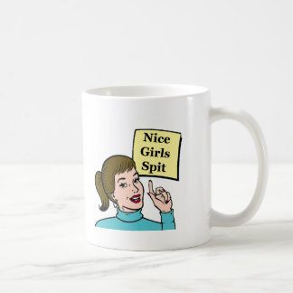 Nice Girls Spit - classic white mug