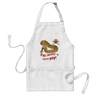 Nice Guy (with text in flames) Adult Apron