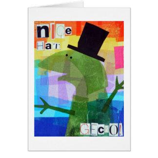 Nice Hat, Gecko! Greeting Card