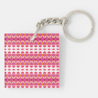 Nice hearth pattern Double-Sided square acrylic keychain