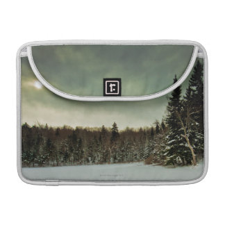 Nice hike over frozen lake in state of Vermont MacBook Pro Sleeve