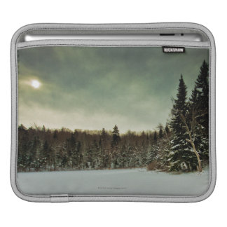 Nice hike over frozen lake in state of Vermont Sleeve For iPads