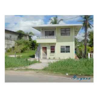 Nice house travel Guyana  postcard
