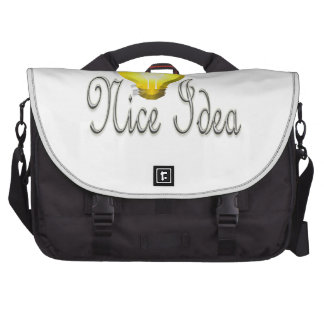 NIce Idea Lamp Light Laptop Messenger Bag