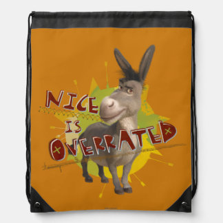 Nice Is Overrated Drawstring Backpack