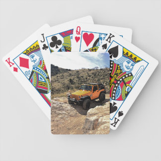 Nice Jeeps with tops down Bicycle Playing Cards