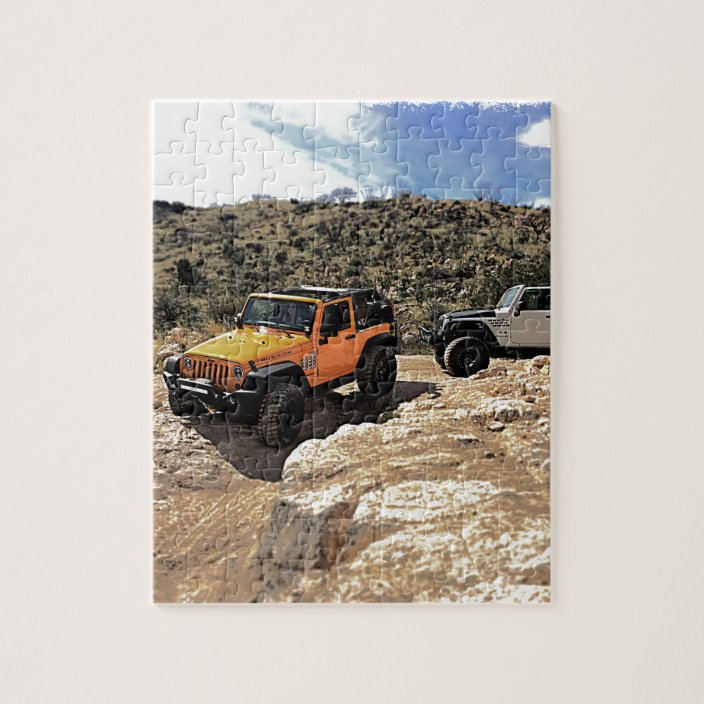 Nice Jeeps With Tops Down Jigsaw Puzzle Zazzle Com
