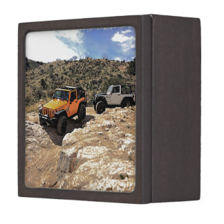 Nice Jeeps with tops down Premium Jewelry Boxes