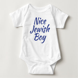 Nice Jewish Boy Baby Bodysuit