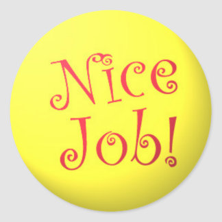Nice Job! stickers