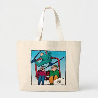 Nice Jump Skiiers Cartoon Bag