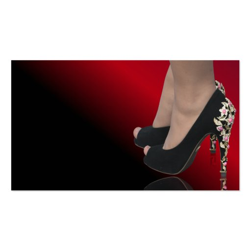 Nice lady s shoes business cards