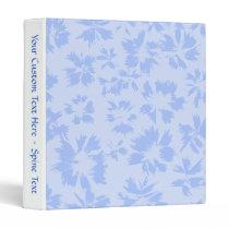 Nice light blue floral pattern. 3 ring binder