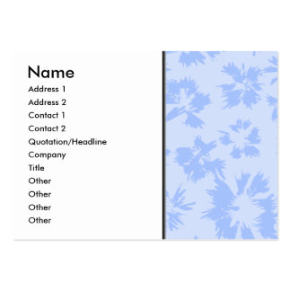 Nice light blue floral pattern. large business cards (Pack of 100)