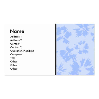 Nice light blue floral pattern. Double-Sided standard business cards (Pack of 100)