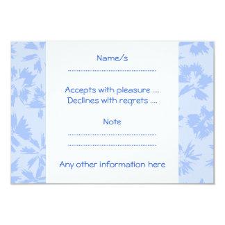 Nice light blue floral pattern. 3.5x5 paper invitation card