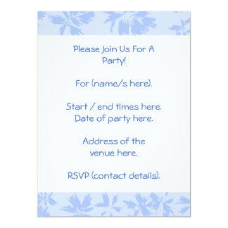 Nice light blue floral pattern. 6.5x8.75 paper invitation card
