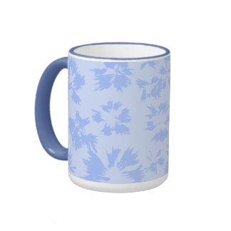 Nice light blue floral pattern. coffee mugs