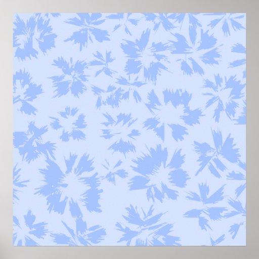 Nice light blue floral pattern. poster