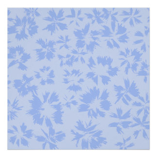 Nice light blue floral pattern. posters