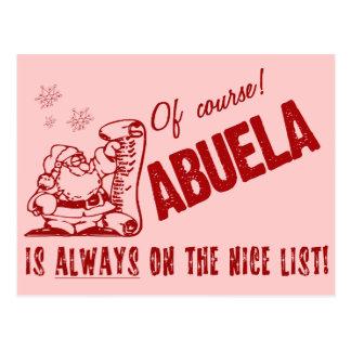 Nice List Abuela Postcard