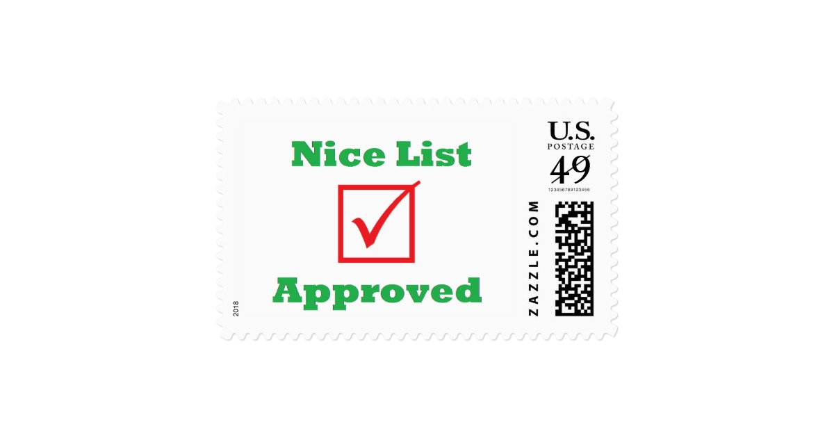 Nice List Approved Postage Stamps