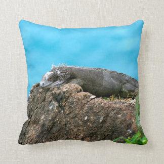 Nice Looking Iguana of St. Thomas U.S.V.I Throw Pillow