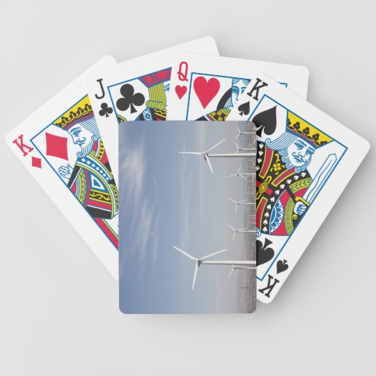 Nice looking windmills in the desert bicycle playing cards