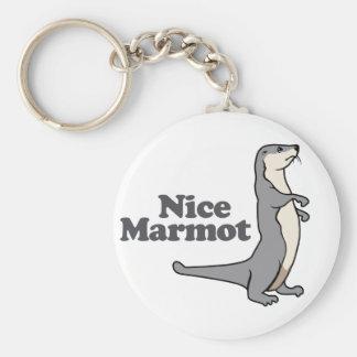 Nice Marmot ferret Keychain