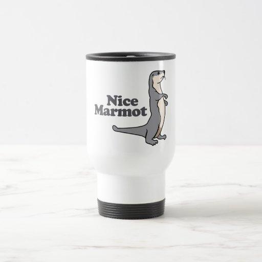 Nice Marmot ferret Mugs
