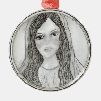 Nice Mary Metal Ornament