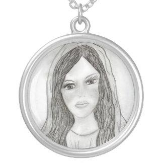 Nice Mary Round Pendant Necklace