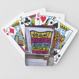 Nice messages in Wales Bicycle Playing Cards