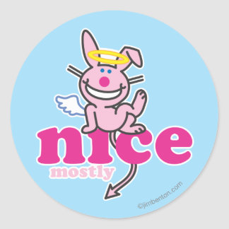 Nice Mostly Round Sticker