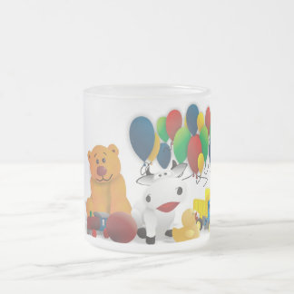 Nice motive for child frosted glass coffee mug