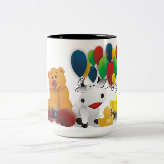 Nice motive for child Two-Tone coffee mug