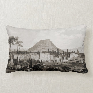 Nice Mountain Cityscape Vintage View France Throw Pillow